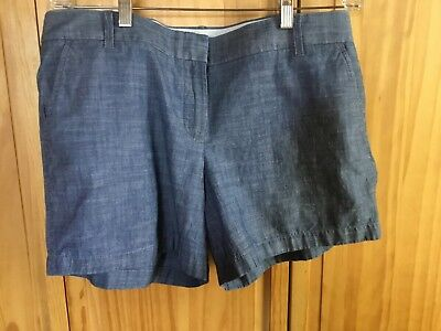 JCREW Chambray 100% Cotton Short 5inch Inseam, Women's Size 14