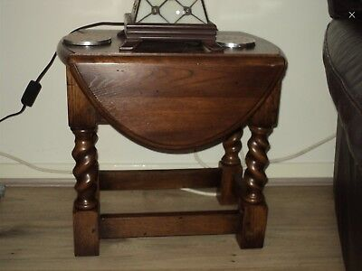 Antique,Small,Oval,Oak,Drop Leaf,Occasional Table, Side Table,oak table,