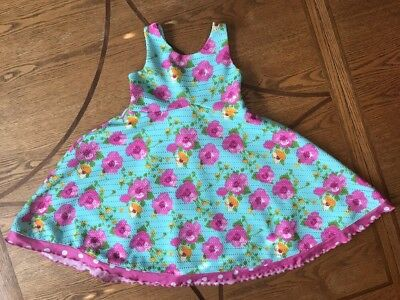 Beautiful Floral Spring/ Easter Girl's Dress. Size 5t.