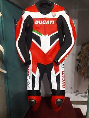 Brand New Ducati Corse Motorbike Motorcycle Racing Motogp Leather Suit