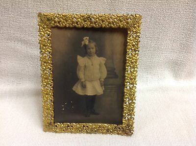 ANTIQUE Lord And Taylor FRENCH STYLE GOLD GILT ORMOLU PHOTO FRAME
