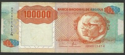 Angola Pick 133a - 100000 Kwanzas in used condition (rb)