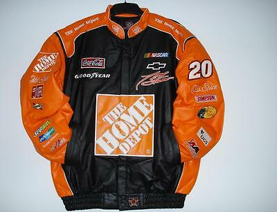 Authentic Nascar Tony Stewart home depot Leather Jacket New With tag  M