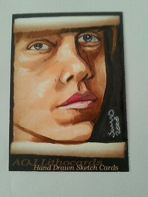 Harry Potter Ron Weasley Hand Drawn Sketch Card By Jonathan D Gordon Psc Aceo