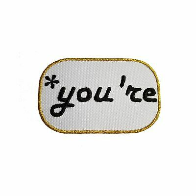 You're Funny Quotes Embroidery Iron On Patches Jacket Badge Cap Jeans Applique