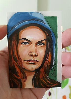 Dr Who Amy Pond Hand Drawn Sketch Card By Jonathan D Gordon Psc Aceo Art