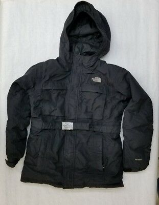 Girls THE NORTH FACE DOWN HYVENT Belted Ski Parka Hooded Jacket Coat Size Large