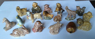 WADE Whimsies X 17 Various Animals - All have minor faults from fleabits to chip