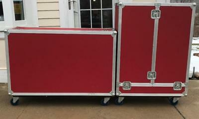 2 RED Storage Shipping Container Equipment Transport Cargo Rockstar Type LIKENEW