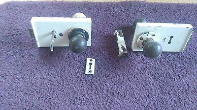 Two vintage 1920s door locks and furniture