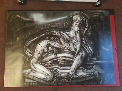 H.R. Giger Lithographie Kunstdruck Erotomechanics Couple Alien 1980