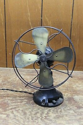 """Vintage EMERSON NORTHWIND OSCULATING ELECTRIC FAN 10"""" cage type 450"""