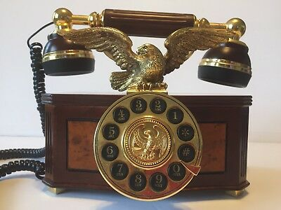 """franklin Mint"" Antique Telephone American Eagle 24 Carat Gold ***very Rare***"