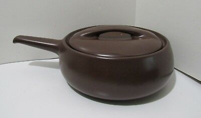 Roseville Raymor Casserole Stick Handle Brown
