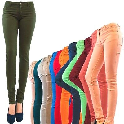 2018 Women Girls Skinny Colorful Jeggings Stretchy Pants Soft Leggings jeans R4
