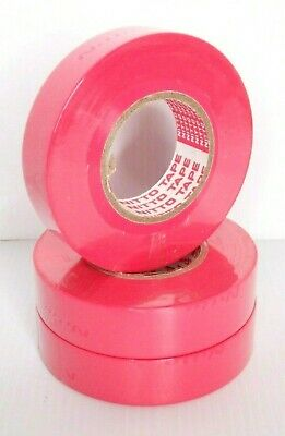 2 x Rolls PINK Nitto Denko Electrical Tape 18mm x 18m General Purpose