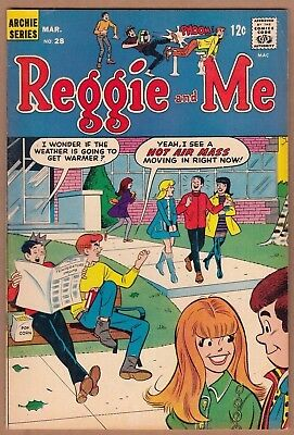 REGGIE & ME #28 (Archie-1968) FN/FN+  Nice! Solid!  -combine ship-
