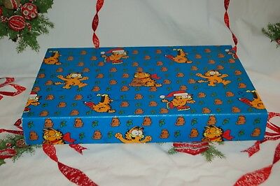 Vintage Rare Garfield Christmas Gift Wrapping Box United Feature Synd. 1978!!