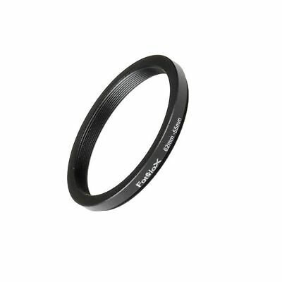 Fotodiox Metal Step Down Ring Filter Adapter, Anodized Black Aluminum 62mm-55...