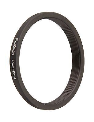 Fotodiox Metal Step Down Ring Filter Adapter, Anodized Black Aluminum 46mm-43...