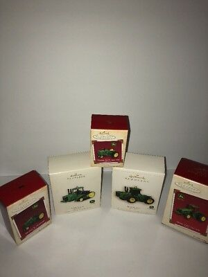 HALLMARK KEEPSAKE LOT OF 5 JOHN DEERE TRACTOR ORNAMENTS NWT Excellent Condition!