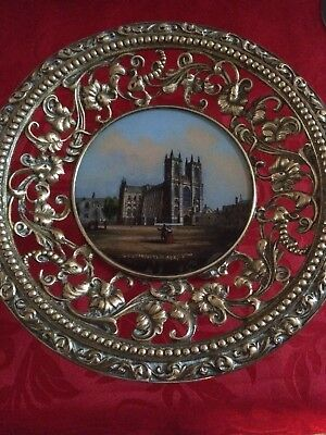 Antique  Gilded  Vintage Fruit /Decorative Stand Solid  Brass Westminster Abbey