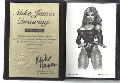 Mike James Vol. 2 #45 / 150 Signed Numbered Limited Edition Art Portfolio