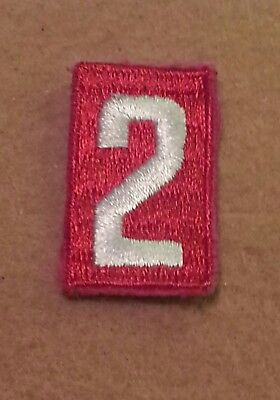 BSA RED TROOP UNIT NUMBER 2 - FULLY EMBROIDERED VERTICAL 1960's~1992 B00152A