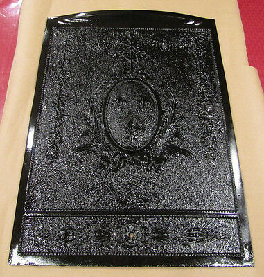 Antique Late 1800's Cast Iron Ornate Fireplace Cover