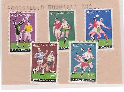 (V8-53) 1974 Romania old stamp pack 5stamps football (BD)