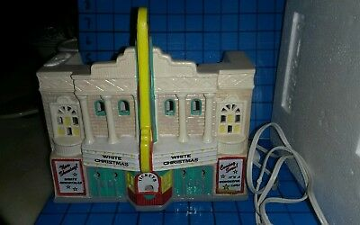 Dept 56 The Paramount Theater Snow Village Display Lighted In Box used great con
