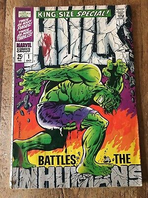 Incredible Hulk Annual #1 1968 Marvel Inhumans appearance Silver Age King-Size