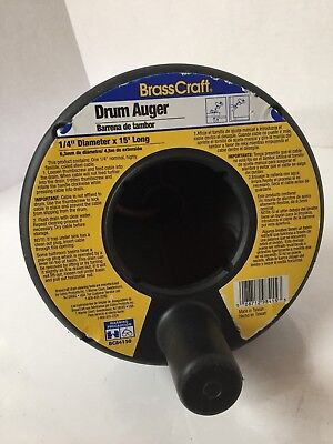 BrassCraft BC84150 1/4 in. x 15 ft. Drum Auger Black Model Flexible Coiled Cable