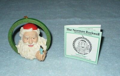 "Vintage Norman Rockwell Collection Ornament ""Santa's Magic"" 1988"