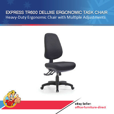 Office Chair Express Deluxe High Back Fully Ergonomic Chairs AFRDI Level 6 Seat