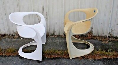 Pair of Mid Century Cado Steen Ostergaard Molded Chairs Local Pickup