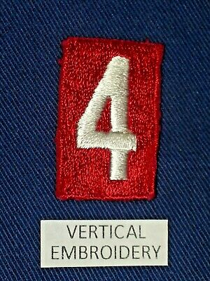 BSA RED TROOP UNIT NUMBER 4 - FULLY EMBROIDERED VERTICAL 1960's~1992  B00154A