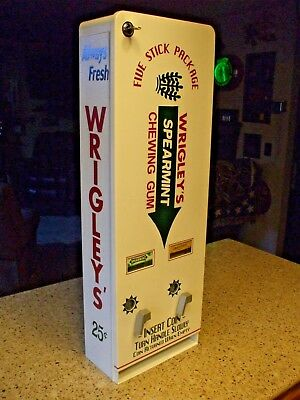 Wrigley's double column chewing gum vending machine diner arcade gum