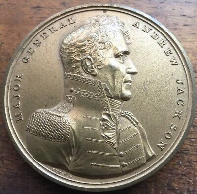 """GENERAL ANDREW JACKSON HERO WAR 1812 BRONZE MEDAL 2 1/2"""" Sold Out US Mint"""