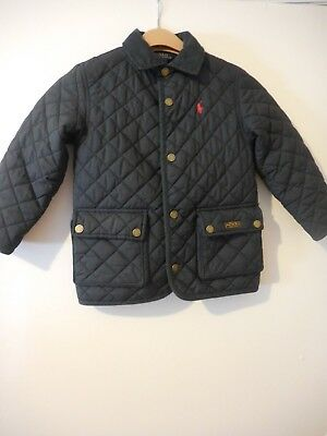 Polo Ralph Lauren Quilted Blue Jacket Boys Size 4/T
