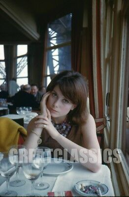 Catherine Deneuve 1961 Eiffel Tower Kodachrome Camera Transparency Peter Basch