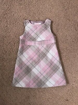 Baby Girl's  Janie And Jack Flannel Dress, 12-18 Months
