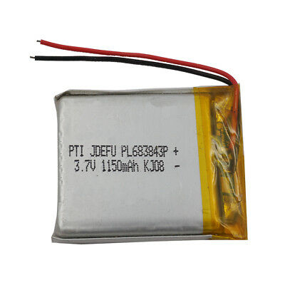 3.7V 1150 mAh Polymer Li ion battery Lipo For ipod GPS MP3 MP4 Tablet PC 683843