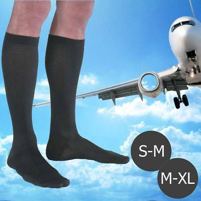 1 Pairs Mens Ladies Flight Travel Socks Comfy Safe Dvt Compression Knee High UK