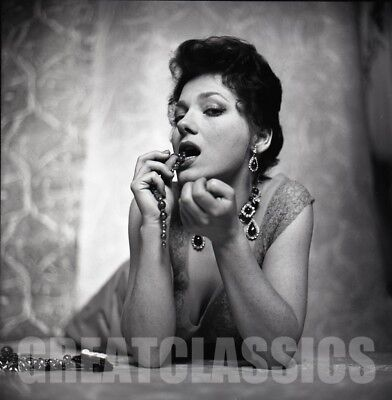 VALERIE FRENCH GORGEOUS SEXY PINUP 1950s 2 1/4 CAMERA NEGATIVE PETER BASCH