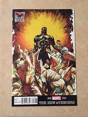 The New Avengers # 12 Nm  Black Panther 1:25 Cowan 50Th Anniversary Variant 2016