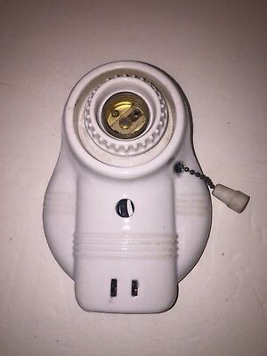 Vintage Ceramic White Porcelain Wall Sconce Old Art Deco Light Fixture Paulding