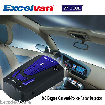 Excelvan V7 Scanning Advanced Voice Alert Laser LED Speed Safety Radar Detector