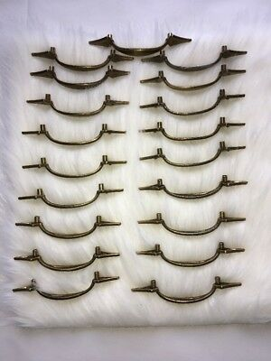 large lot of 19 matching vintage brass Drawer Handles Pat 1976