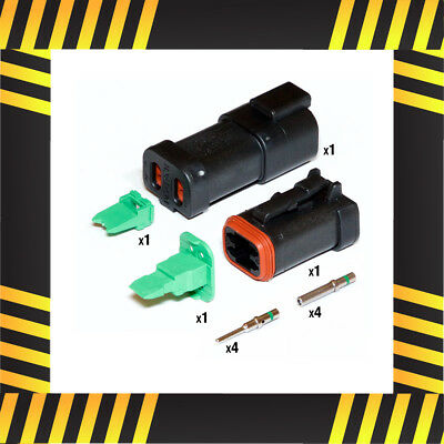 Deutsch DT 4 way Rugged Duty Connector Kit (Black/Caterpillar)